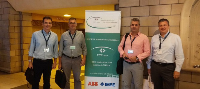 Participation in ETFA2017 Conference